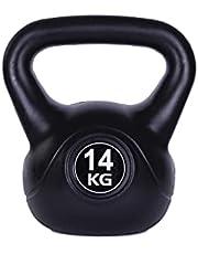 Kettlebell zwart kogelhalter voor krachttraining crossfit fitness (verkrijgbaar in 6 kg - 16 kg)
