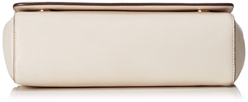 Love Moschino - Borsa Calf Pu Avorio, Shoppers y bolsos de hombro Mujer, Weiß (Ivory), 16x35x9 cm (W x H D)