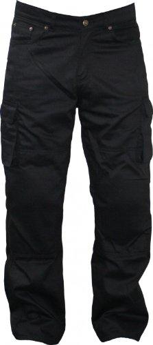 Motorradhose Kevlar Jeans kevlarjeans hose mit Protektoren schwarz 280g/m2, Jeansgröße:34W/32L