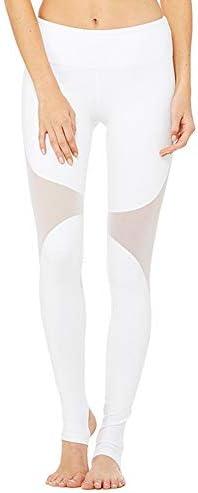 ヨガウェア ヨガパンツ、女性のジムスポーツランニングトレーニングスターラップレギンスハイウエスト速乾性ランニングパンツおなかコントロールパワーストレッチヨガレギンス