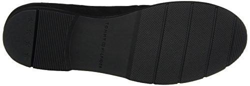 Dames Hilfiger M1285el 1c Fermé Plat Noir (noir)