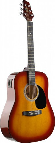stagg-sw201cs-vt-acoustic-electric-dreadnought-guitar-with-black-stained-maple-bridge-cherryburst