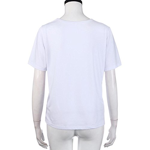 donna T Sysnant Camicetta da Manica Bluse Casual da Donna elegante Elegante bianco Arcobaleno Corta Stampata Estate Top Maglietta Corte Estive Shirt Camicie Manica Maglia e Donna UIq5xtHdw