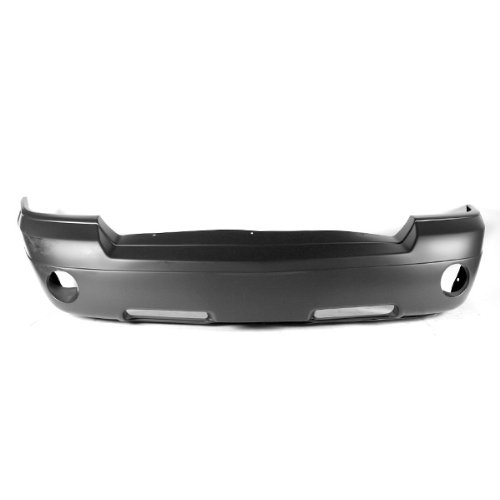 CarPartsDepot, Front Bumper Cover Assembly Primed Smooth w/Fog Hole, 352-17863-10-PM CH1000444 5JL35TZZAF