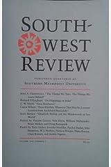 Southwest Review, Volume 101, Number 1 (2016) Paperback