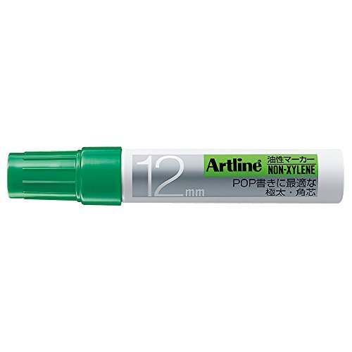 (Shachihata Oil Marker Angle 12 Green K-120 Japan)