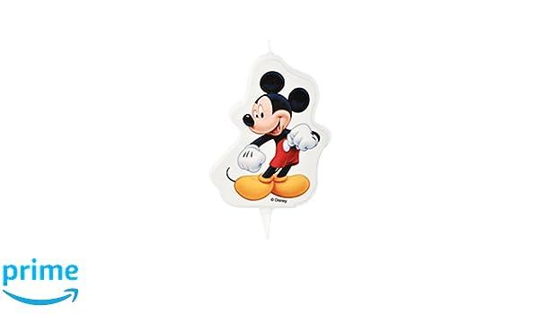 Generique - Vela de cumpleaños Mickey 7 x 8.5 cm: Amazon.es ...