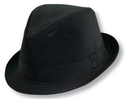 Leg Avenue Black Cotton Fedora Hat,  Large/XL (Black Fedora Hat)