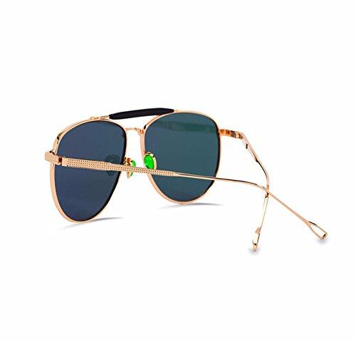 sol Gafas y Rosa metal de cara sol Rosa personalizadas mujer XIAOGEGE de gafas grande de reflectante TExBSTwq