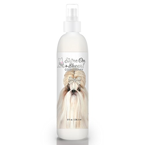 The Blissful Dog Shine-On + Sheen Coat Spray, All Natural, Leave-in Conditioner and Coat Detangler for Your Dog, 8 Oz