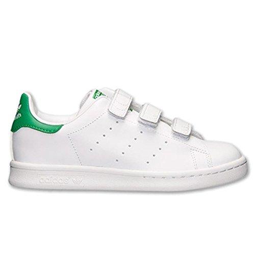 adidas Originals Boys' Stan Smith CF C Sneaker, White/White/