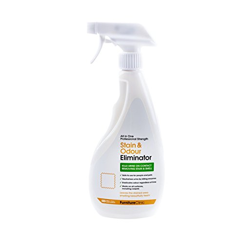 Furniture Clinic Urine Remover | Stain & Odor Eliminator For Dogs, Cats, Pets & and Human Urine Removal | Enzyme Activated Urine Spray | Get Urine Off Carpets, Mattresses and other Surfaces, 17 fl oz (500 ml)
