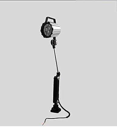Taladradora 110V-220V Iluminaci/ón de la m/áquina Luz de trabajo LED de aleaci/ón de aluminio ajustable para torno Brazo largo 7 Fresadora CNC