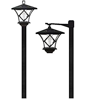 Lightahead Solar Lampost Stake Light Warm White Solar Lantern Lamp Post  Outdoor Garden Lamp