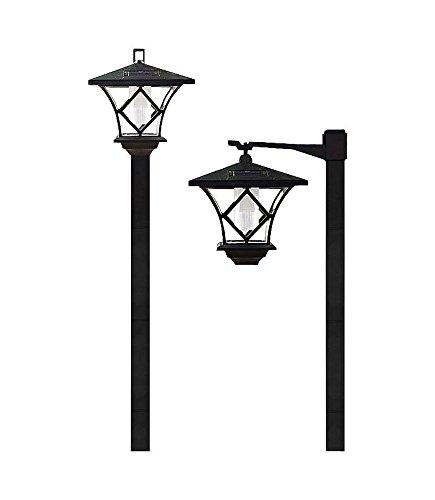 Lightahead Solar Lampost Stake Light Warm White Solar Lantern Lamp Post Outdoor Garden Lamp