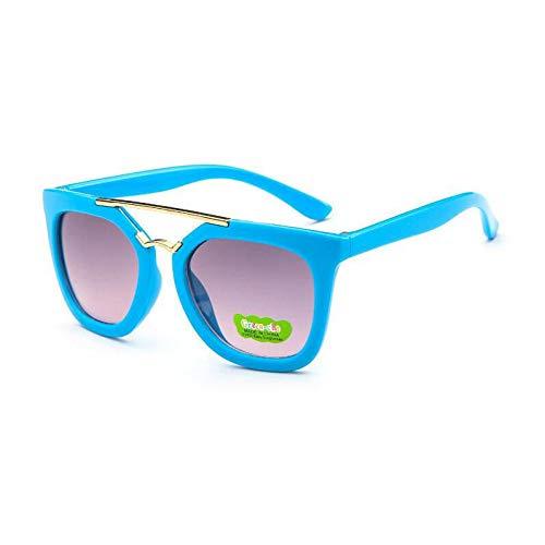 Haz cuadradas Gafas Gafas Gafas Metal de de de Gafas Sol de Hombre Burenqiq bebé Sol Doble de de Sol Infantiles blue Gafas Semi Verde para Sol para Sol OcZWWyqYa