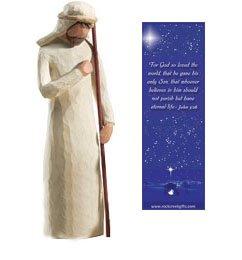 (Willow Tree Joseph Individual Nativity Piece with Nativity Bookmark)