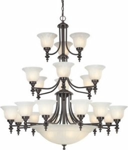 (Dolan Designs 3-Tier 24-Light Chandelier in Royal Bronze )
