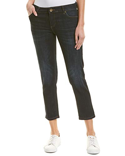 KUT from the Kloth Catherine Straight-Leg Ankle Jeans (Cultivated/Blue, 12)
