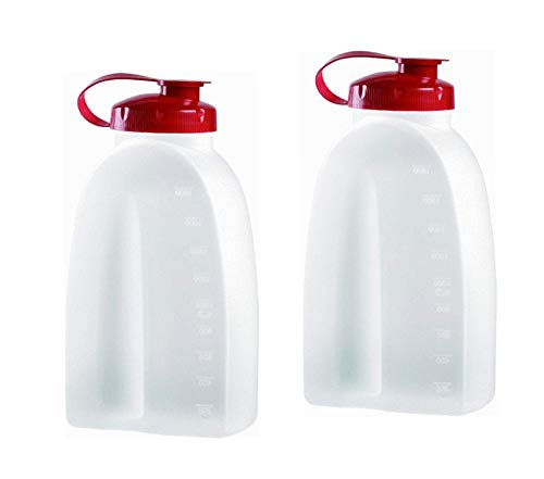 Home Décor Premium Servin Saver White Bottle 2 Qt. (Pack of 2) 2 Pack Clear Storage ()