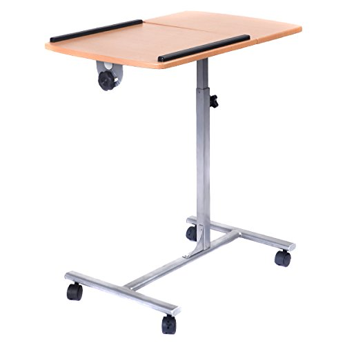 Price comparison product image Tangkula Adjustable Laptop Notebook Desk Table Stand Holder Swivel Home Office Wheels