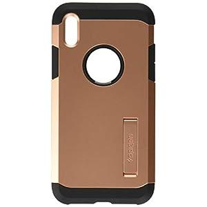 Spigen Tough Armor Designed for Apple iPhone Xs Case (2018) / Designed for Apple iPhone X Case (2017) - Blush Gold