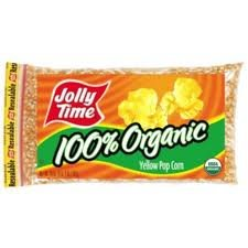 Jolly Time Organic Gluten-free Non-gmo Yellow Popcorn Kernels, 20 Oz. Bag (Americans Sneak Peak)