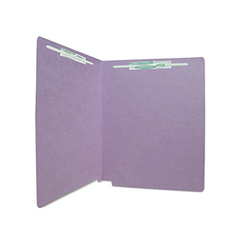 AMZfiling SJ Paper Match WaterShed/CutLess Purple File Folder with 2 Permclip Fasteners- Letter Size, 11pt, End Tab (50/Box)