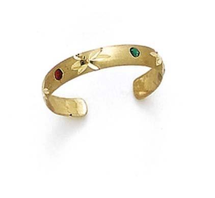 14ct oro Amarillo Esmalte Anillo para dedo del pie. JewelryWeb CCT16302Y
