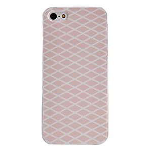 DD Cream Diamond Pattern PC Hard Case with Transparent Frame for iPhone 5/5S