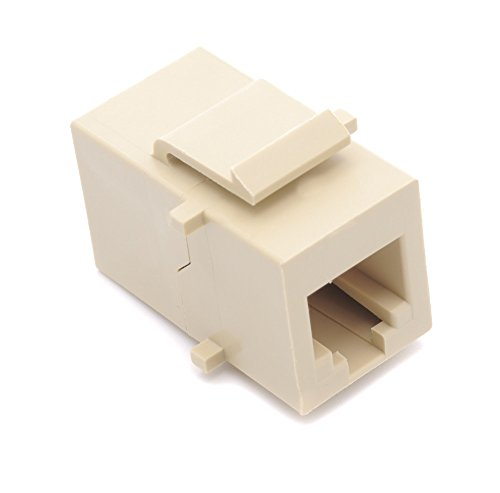 Phone Coupler - RiteAV Beige RJ11/RJ12 Phone Keystone Jack Female to Female