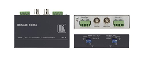Kramer Electronics TR-3 Video and Balanced Stereo Audio Isolation Transformer, ()