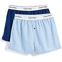 Calvin Klein Men's Underwear Modern Cotton Stretch Woven Boxers