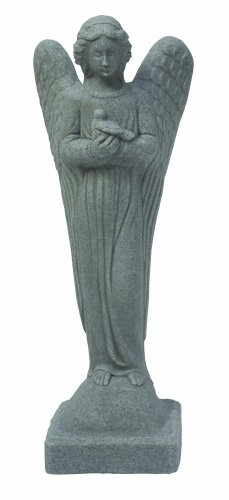EMSCO Group Morning Angel Statue - Natural Granite Appearance - Made of Resin - Lightweight - 29