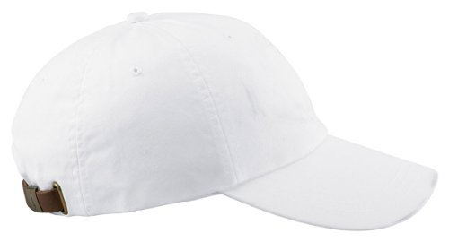 Adams 6-Panel Washed Pigment-Dyed Cap, White, OS