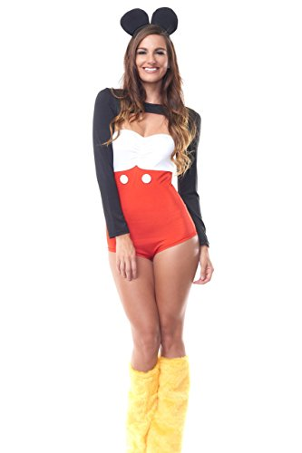 [Womens, Sexy Mickey Mouse Costume, One Size] (Mickey And Minnie Costumes Adults)