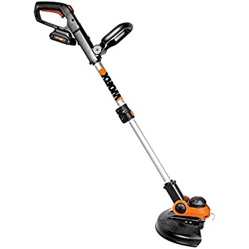 """WORX WG163 GT 3.0 20V Cordless Grass Trimmer/Edger with Command Feed, 12"""", 2 Batteries and Charger Included"""
