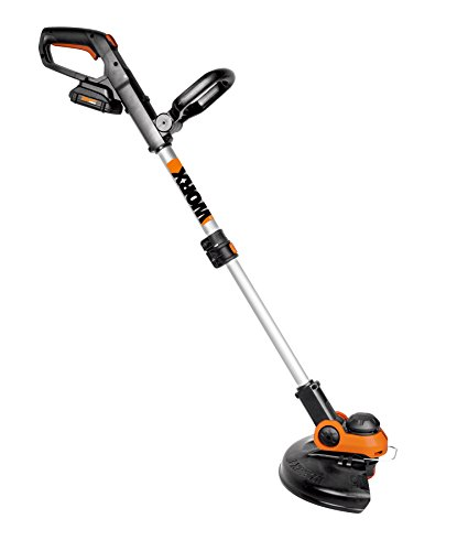 Worx WG163 GT 3.0 20V Cordless Grass Trimmer/Edger with Command Feed, 12″, 2 20 V Batteries and Charger Included