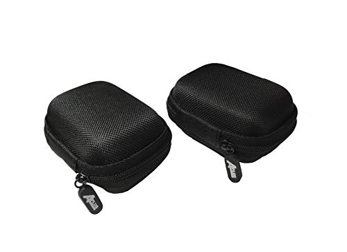 2 Packs of Aplus Universal Zipper Zip Travel Carrying Hard Shell Waterproof EVA Case Storage Bag for 4 x 18650 Batteries (Also Fits 20700 and 21700 Battery, Charger, Cable, Earphone, Flash Drive)