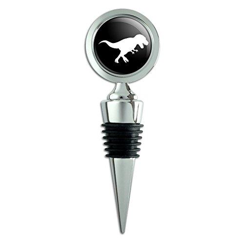 Dinosaur Tyrannosaurus Rex Black White Wine Bottle Stopper ()