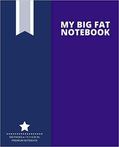 My Big Fat Notebook (500 Pages): Midnight Purple, Extra Large Notebook, Journal, Diary (7.5 x 9.25 in.) (Creative Collection)