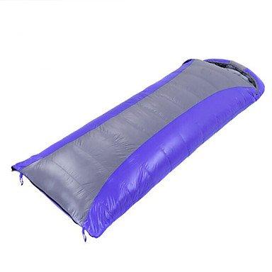 zyt Saco de dormir rectangular saco de dormir Cama individual (150 x 200 cm) de 12 Patos Calidad plumas 210 x 80, azul: Amazon.es: Deportes y aire libre