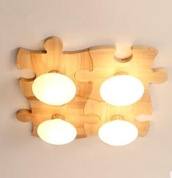 yff @ Ilu la luz en el techo de madera maciza Salón ...