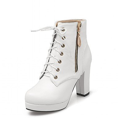 RTRY Women'S Boots Spring Fall Winter Platform Comfort Novelty Patent Leather Leatherette Wedding Office &Amp; Career Dress Casual Party &Amp; Evening US5 / EU35 / UK3 / CN34 TjFSY