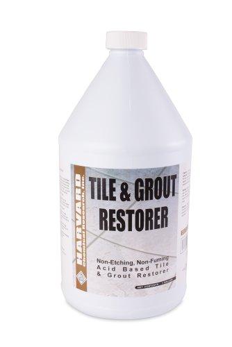Harvard Chemical 1131 Tile and Grout Restorer Liquid, Low Odor, 1 Gallon Bottle, Light Blue (Case of 4)