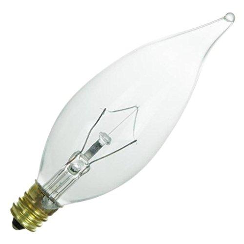 Light Candle Chandelier Finish - Sunlite K60CFC 120-volt 60-watt Candelabra Base Incandescent Flame Tip Chandelier Lamp