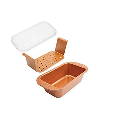 NEW! As Seen On TV Copper Chef Perfect Loaf Pan With Insert And Lid