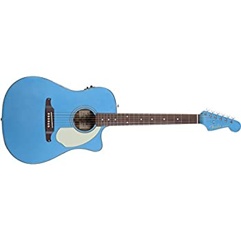 Fender Sonoran SCE Dreadnought Cutaway Acoustic-Electric Guitar - Lake Placid Blue
