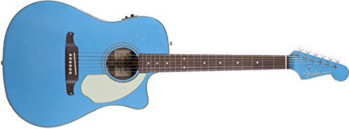 - Fender Sonoran SCE Dreadnought Cutaway Acoustic-Electric Guitar - Lake Placid Blue