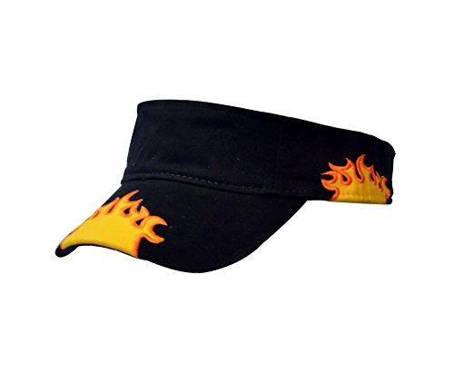 Unisex Racing Cap Race Running Outdoor Sports Visor Summer Sun Blocker - Visor Flame Hat